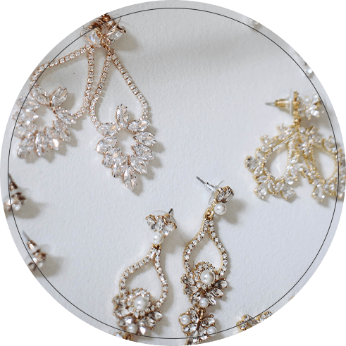 Sets of long sparkly earrings for all occasions.