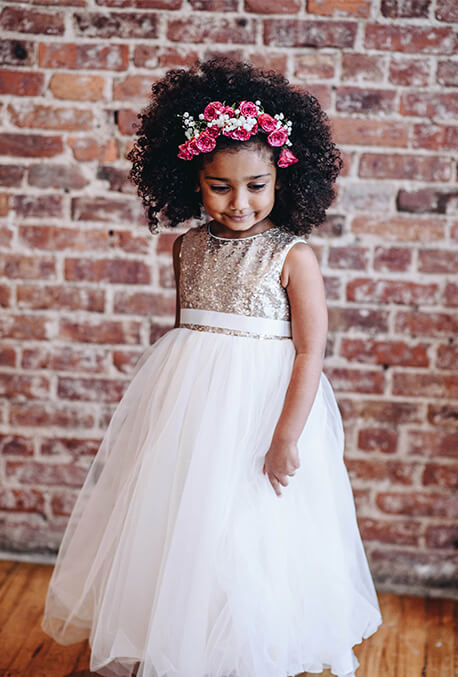 Flower Girl dress with sparkle trend.