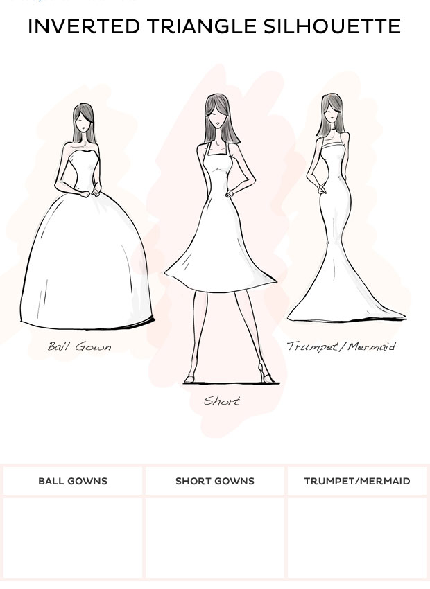 Style inverted triangle style wedding dresses from david s bridal