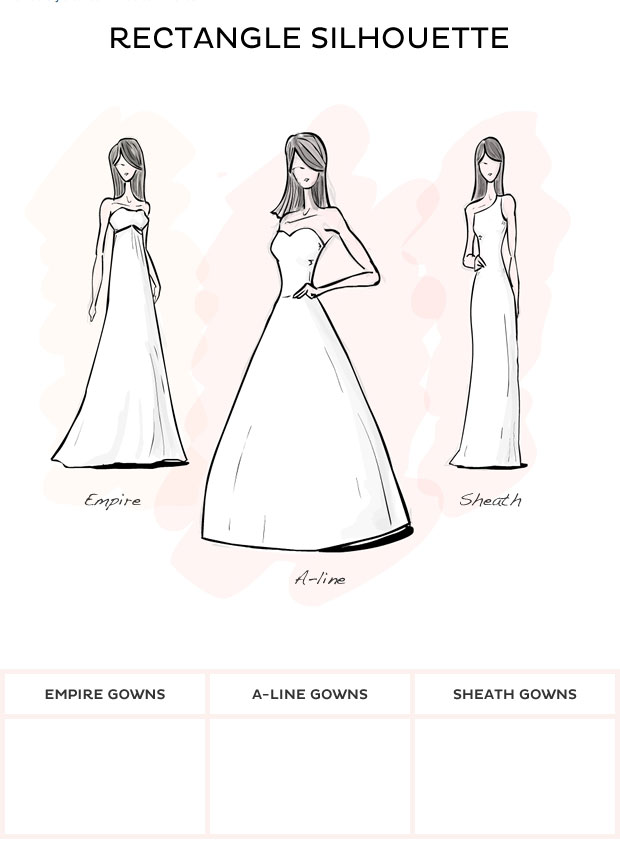 Wedding Dress Style Rectangle Style Wedding Dresses From