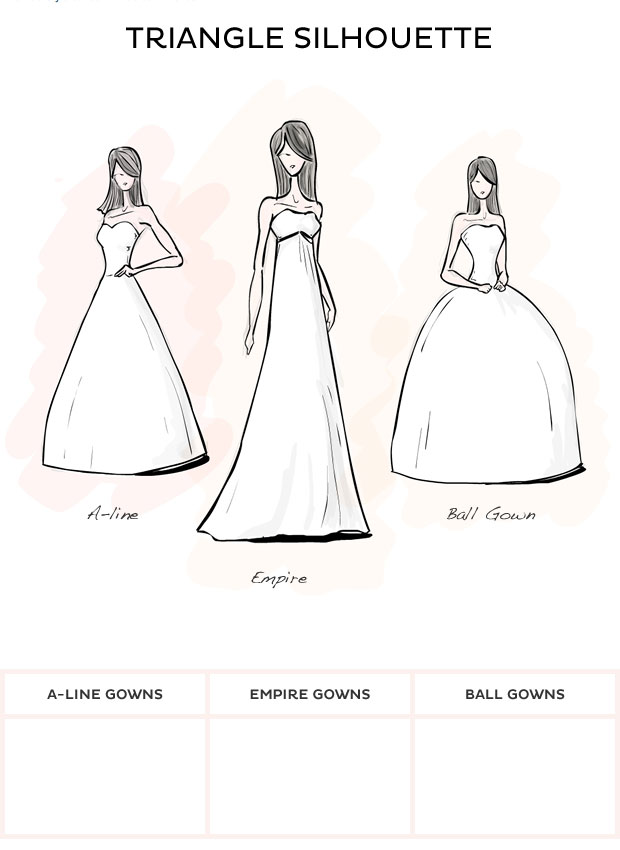 Wedding dress body style