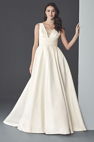 ac8a3a54899 Shop Slips  . Bride posing in the Ball Gown Wedding Dress  Before