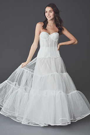 Bride posing in the Ball Gown Wedding Dress: Solution