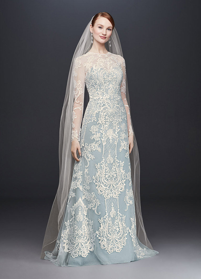 Blue Oleg Cini Wedding Dress Cwg782