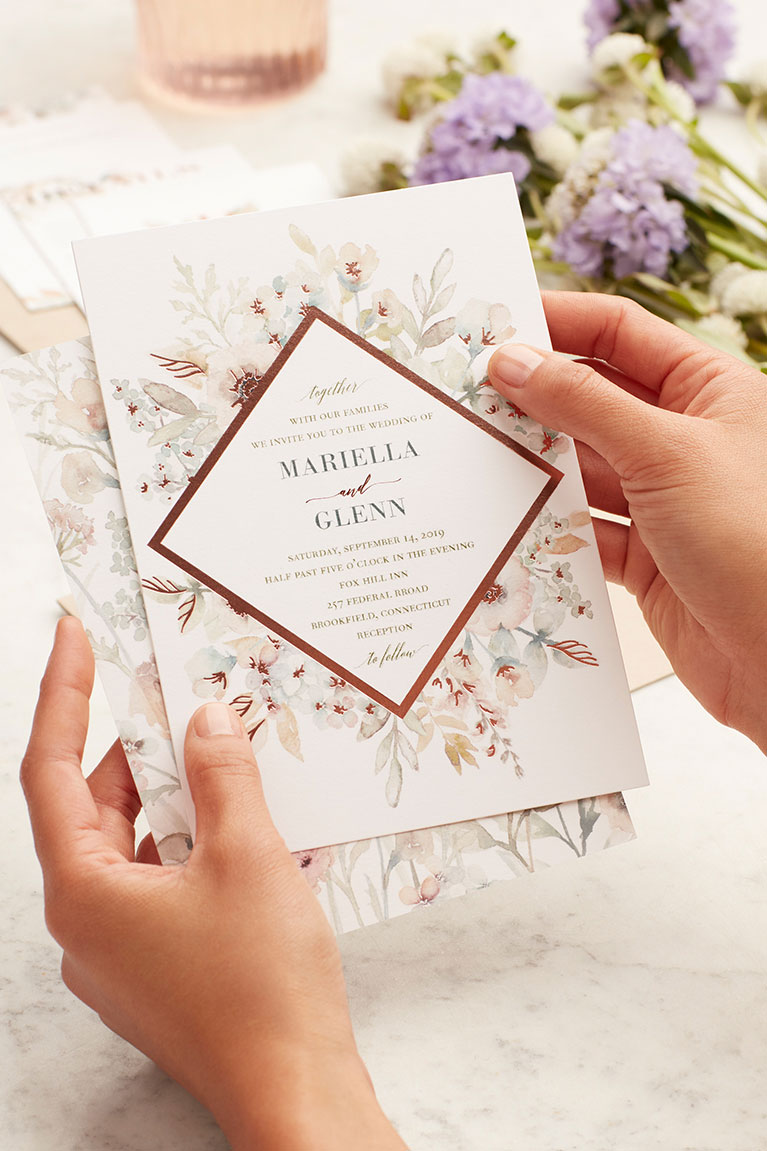floral design invitation
