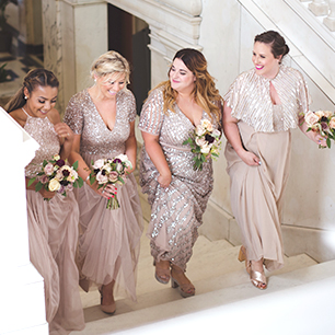 Beaded bridesmaid dresses in all sizes | David's Bridal