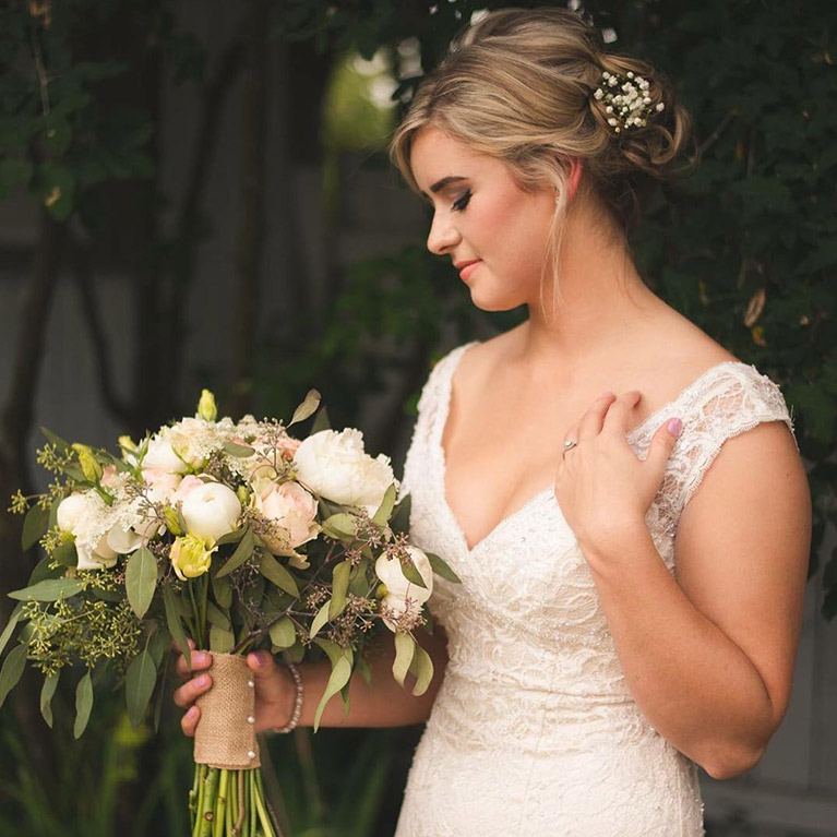 V-Neck Wedding Dresses for a Romantic Bride