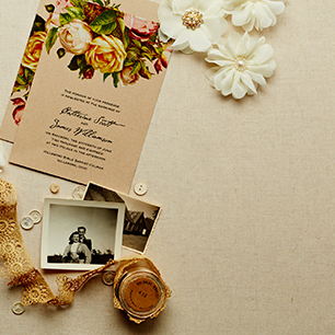Vintage-Inspired Invitations | David's Bridal