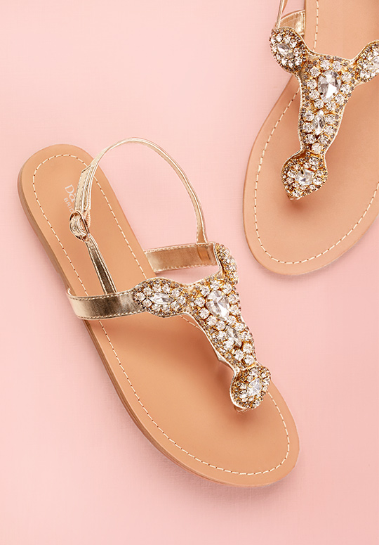 Gold Wedding Sandal