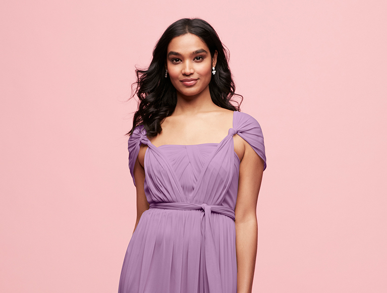 Bridesmaid in Style-Your-Way Mesh Cap Sleeve Dress