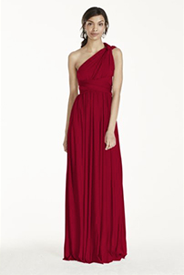 Versa Convertible Long Jersey Dress in Apple