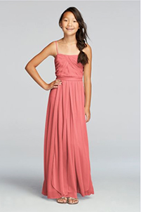 Junior Versa Convertible Long Mesh Dress in Coral Reef