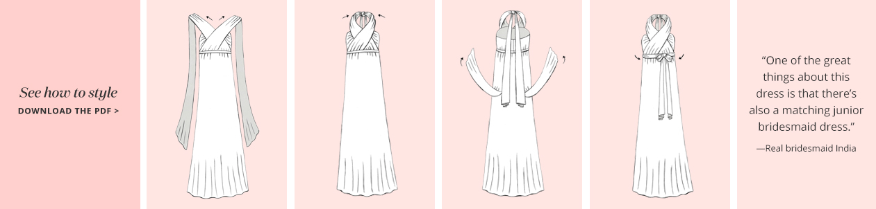 Illustation of the Halter Convertible Bridesmaid Dress concept