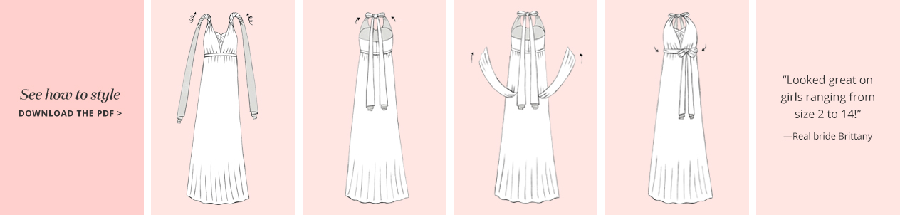 Illustration of the Twisted Halter Convertible Bridesmaid Dress Concept