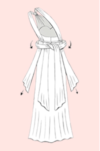 Knotted One Shoulder Convertible Bridesmaid Dress | Step 5