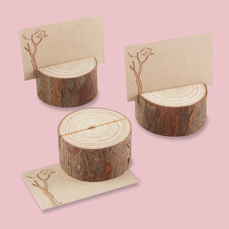 Unique wedding favor ideas davids bridal rustic mini tree stump place card holders junglespirit Gallery