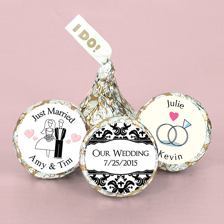 Customized Hershey Kisses Wedding Favors