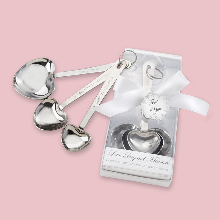 Heart Shaped Wedding Measuring Spoons