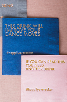 Personalized napkins This drink will improve your dance moves and If you can read this you need another drink