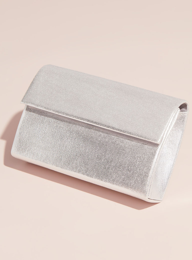 Silver clutch for after party.