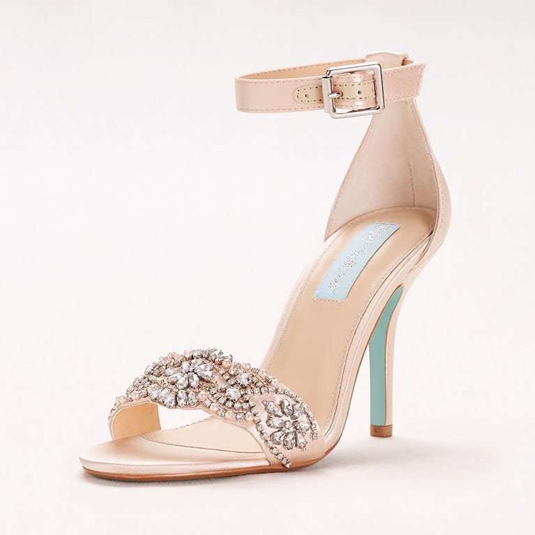 embellished high-heeled sandal