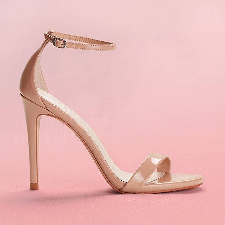 Patent High Heel with Ankle Strap
