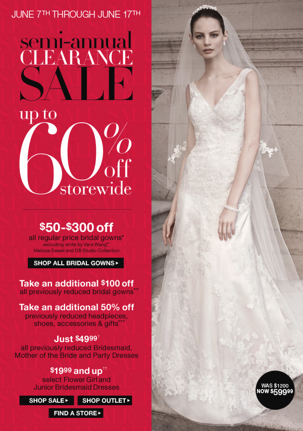 Special bridal offers david 39 s bridal for David s bridal clearance wedding dresses