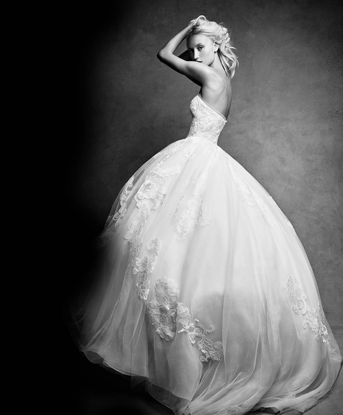 White by Vera Wang Strapless Tulle Wedding Dress Style #VW351297 - Exclusively at David's Bridal