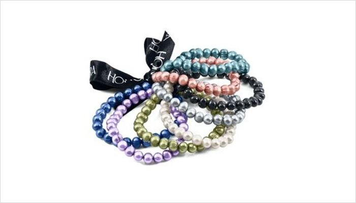 Brightly colored bracelets