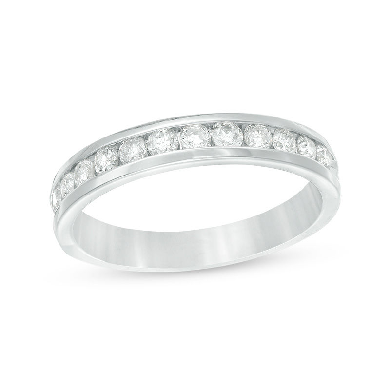 1/2 CT. T.W. Diamond Channel Band in 14K White Gold