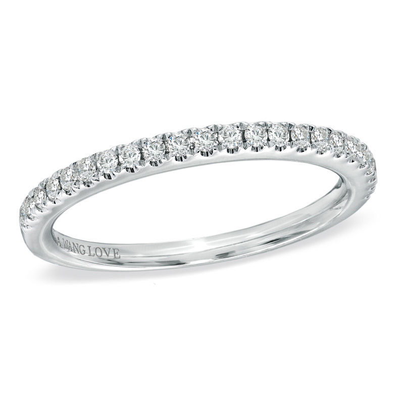 Vera Wang Love Collection 1/4 CT. T.W. Diamond Anniversary Band in 14K White Gold