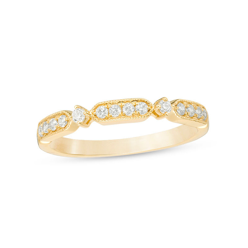 1/5 CT. T.W. Diamond Art Deco Vintage-Style Anniversary Band in 10K Gold