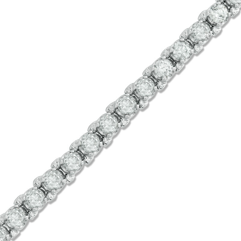 4 CT. T.W. Diamond Tennis Bracelet in 10K White Gold