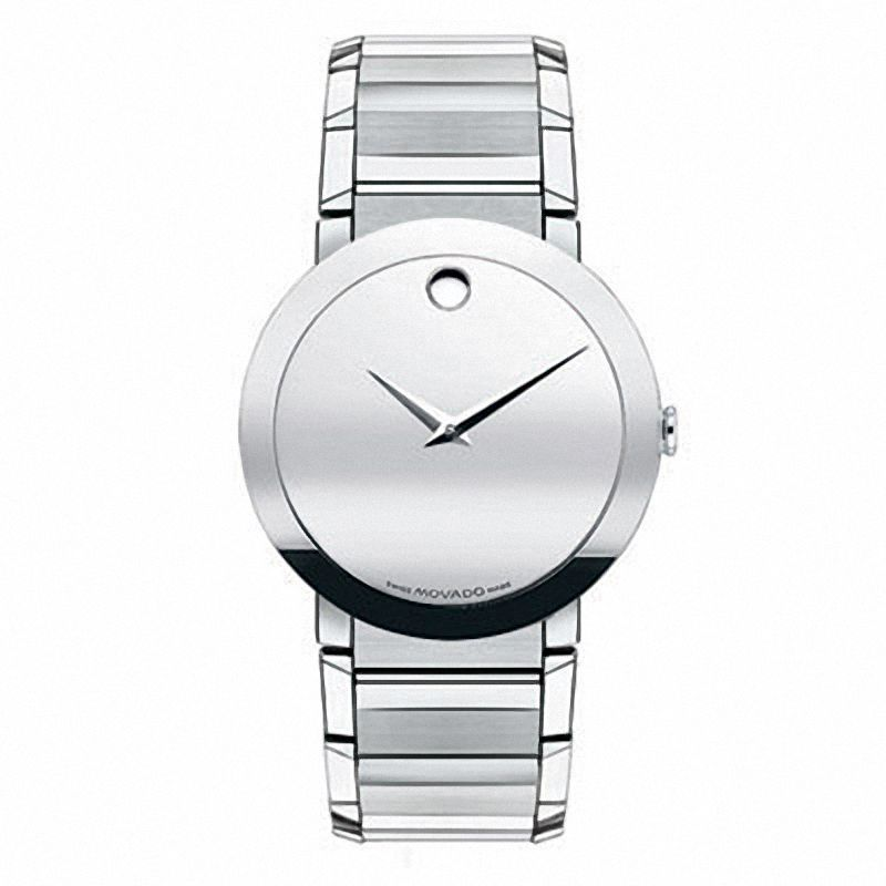 Men's Movado Sapphire Watch with Silver-Tone Dial (Model: 0607178)