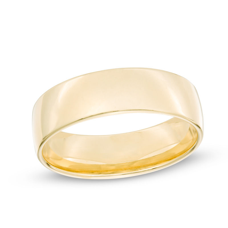 Men's 6.5mm Comfort Fit Wedding Band in 14K Gold