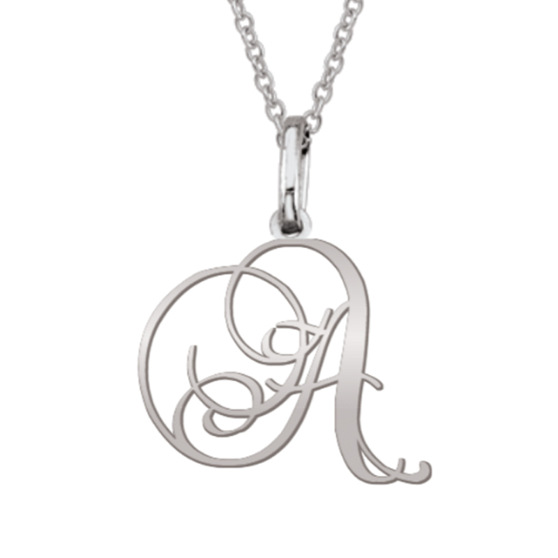 Scrolling Initial Pendant (1 Letter)