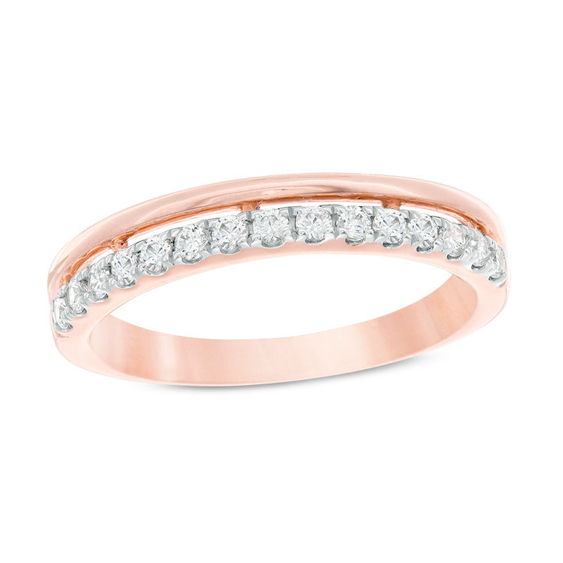 1/4 CT. T.W. Diamond Stacked Anniversary Band in 10K Rose Gold