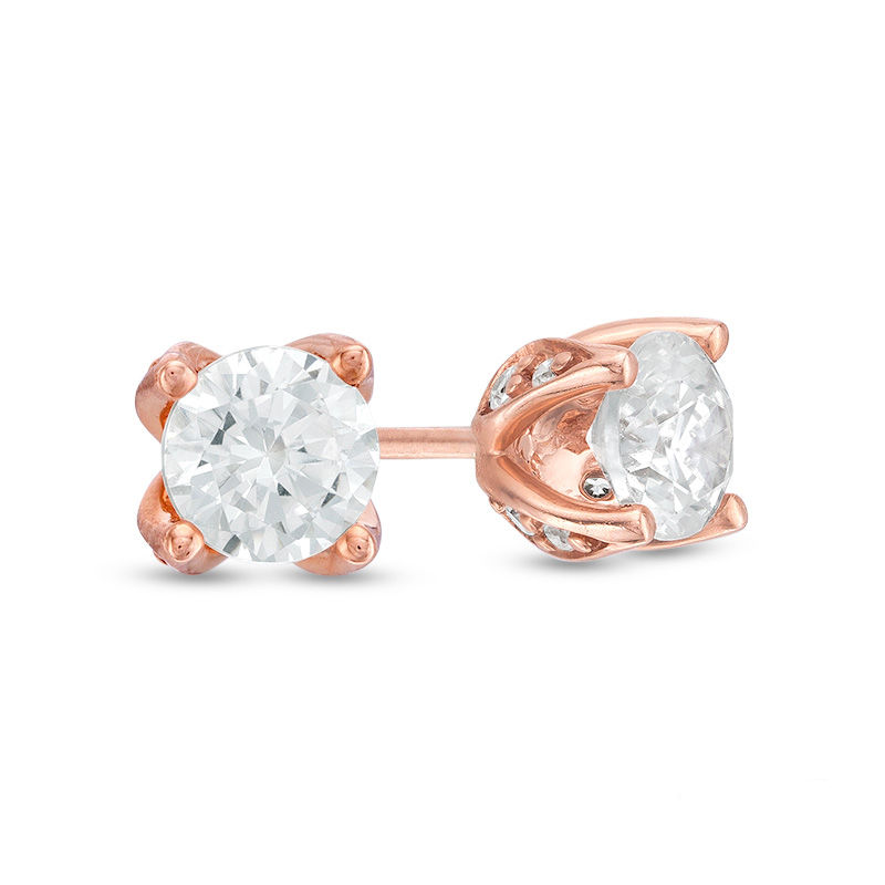 Love's Destiny by Zales 5/8 CT. T.W. Certified Diamond Solitaire Stud Earrings in 14K Rose Gold (I/I2)